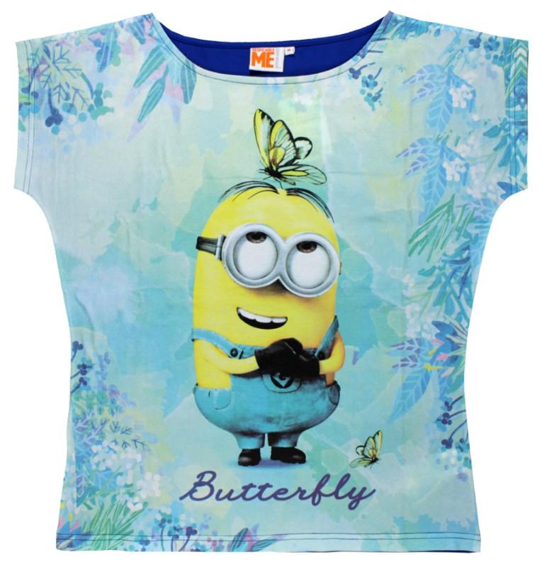 Dámské Tričko S Krátkým Rukávem Mimoni Butterfly   vecizfilmu 7fe7f936ac