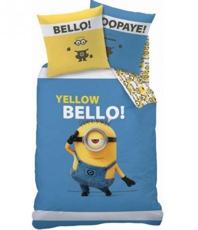 Povlečení Mimoni modro / žluté Yellow Bello