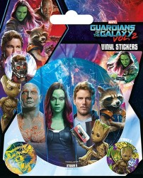 Sada 5 ks samolepek Strážci Galaxie / GUARDIANS OF THE GALAXY
