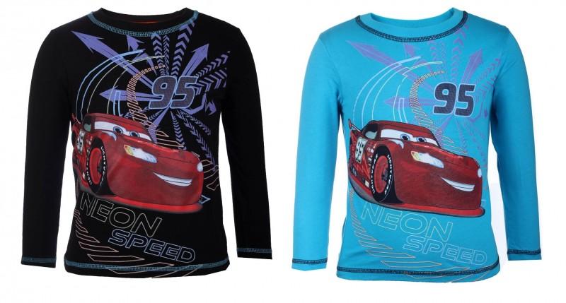 Tričko S Dlouhým Rukávem Auta / Cars Mcqueen Černé / Modré