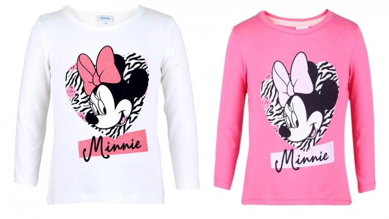Tričko S Dlouhým Rukávem Minnie Mouse Bílé / Růžové