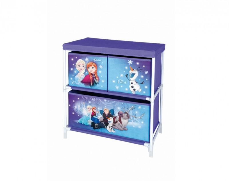 Úložný Box Ledové Království / Frozen Anna Elsa Olaf Fialový 60 Cm