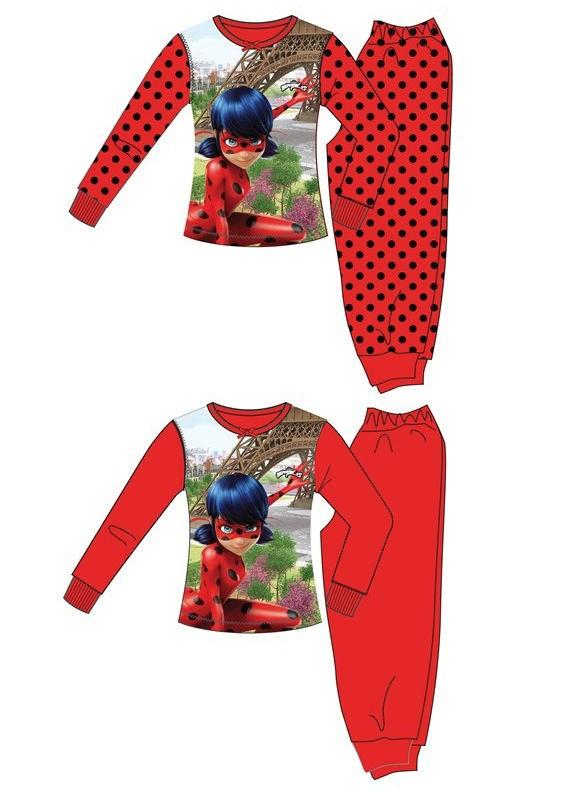 Dívčí Pyžamo / domácí úbor Zázračná Beruška / Miraculous Ladybug Červené / Černé
