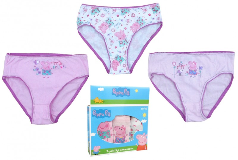 ffcea894bb9 Dívčí Kalhotky Prasátko Peppa   Peppa Pig Fialové 3 Ks