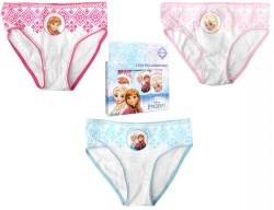 Dívčí Kalhotky Ledové Království / Frozen Anna Elsa Růžové, Modré 3 Ks