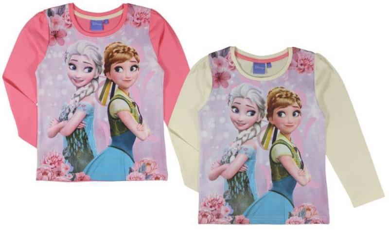 Tričko S Dlouhým Rukávem Ledové Království / Frozen Anna Elsa Růžová / Žluté