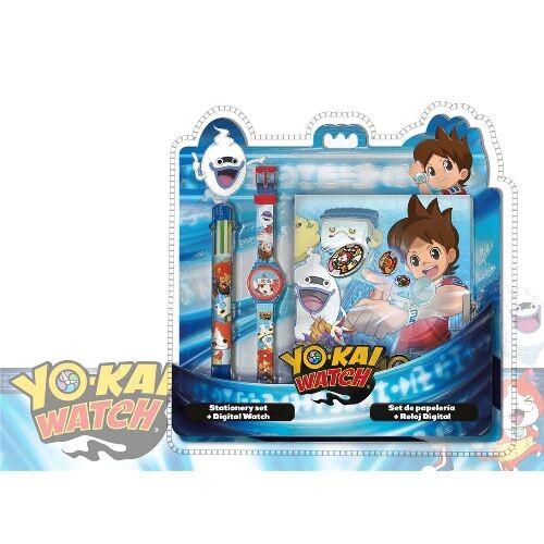 Analogové hodinky / notes a vícebarevná propiska Yo-Kai Watch
