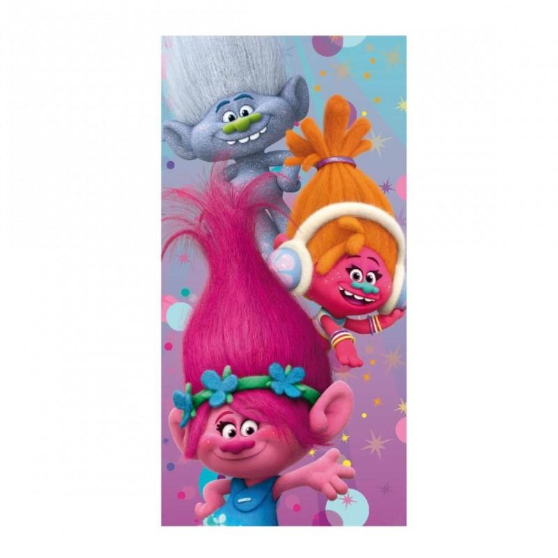 Osuška Trollové / Trolls  Poppy Suki Branch 140 X 70 Cm
