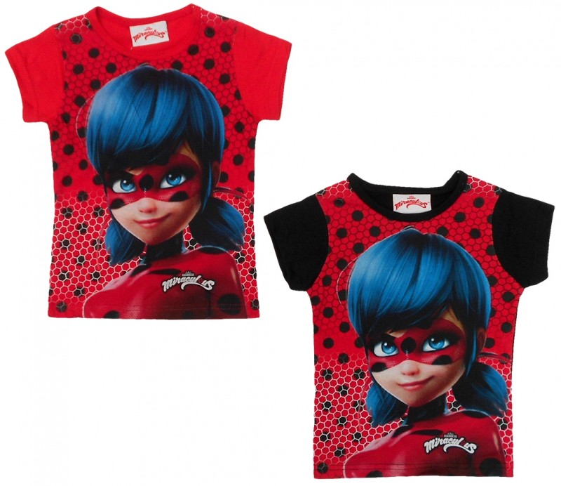 Tričko Zázračná Beruška / Miraculous Ladybug Červené / Černé