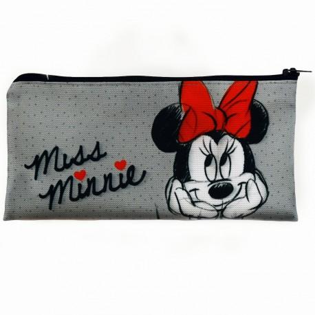 Penál Minnie Mouse Šedý