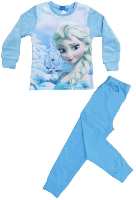 Dívčí pyžamo Ledové Království / Frozen Elsa Modré bavlna + fleece / vecizfilmu