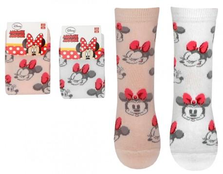 Dětské Ponožky Minnie Mouse Růžové / Bílé
