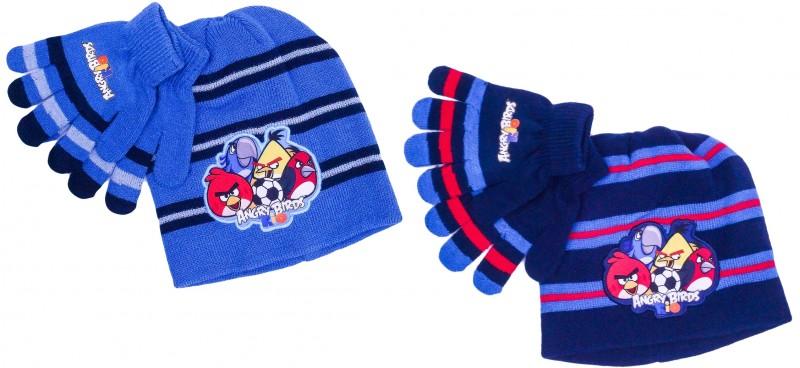 Chlapecká sada oblečení čepice a rukavice Angry Birds modrá / tmavě modrá