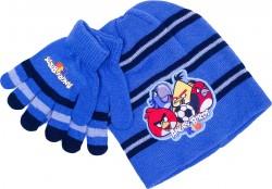 Chlapecká sada oblečení čepice a rukavice Angry Birds modrá / tmavě modrá / vecizfilmu