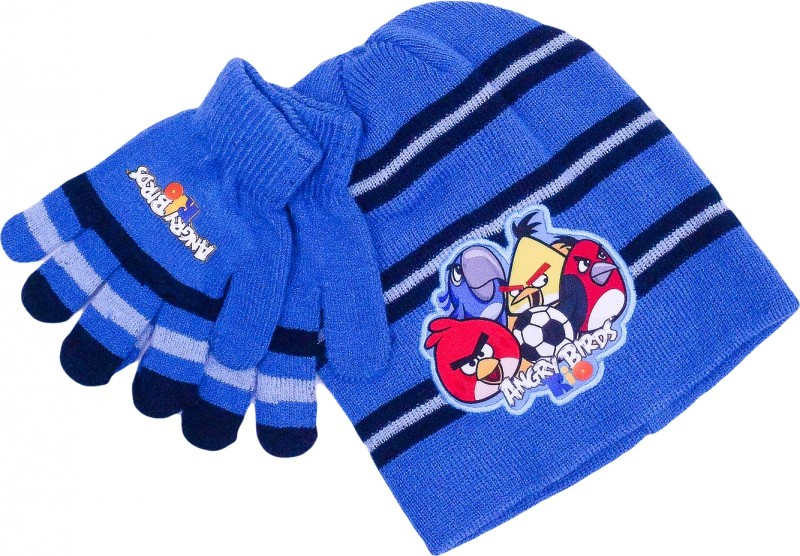 755f704c3c1 ... Chlapecká sada oblečení čepice a rukavice Angry Birds modrá   tmavě  modrá   vecizfilmu ...