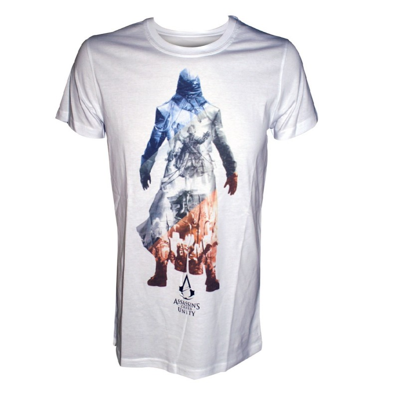 Pánské Tričko Assassins Creed Unity Bílé M