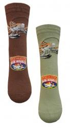 Ponožky Letadla / Planes Hnědé / Zelené