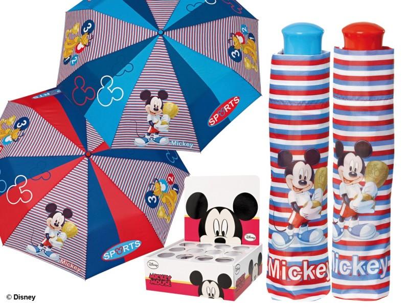Deštník Skládací Mickey Mouse Modrý / Červený 54 Cm