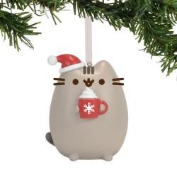 Vánoční Dekorace Pusheen s čepičkou 7 x 6 cm