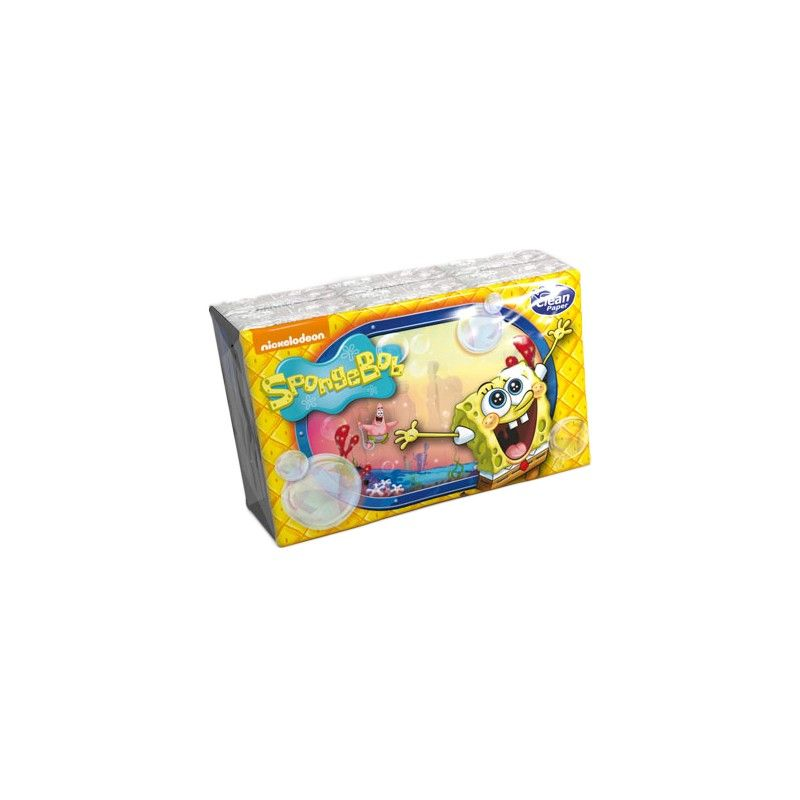Kapesníky Sponge Bob s potiskem 4 vrstvé 6 balíčků