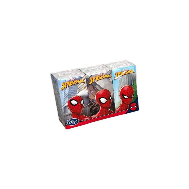 Kapesníky Spiderman s potiskem 4 vrstvé, folie 6 balíčků