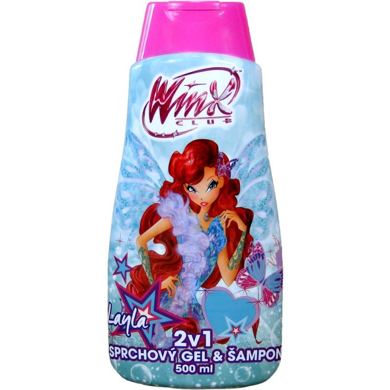 Sprchový gel + šampon Winx club LAYLA 500 ml