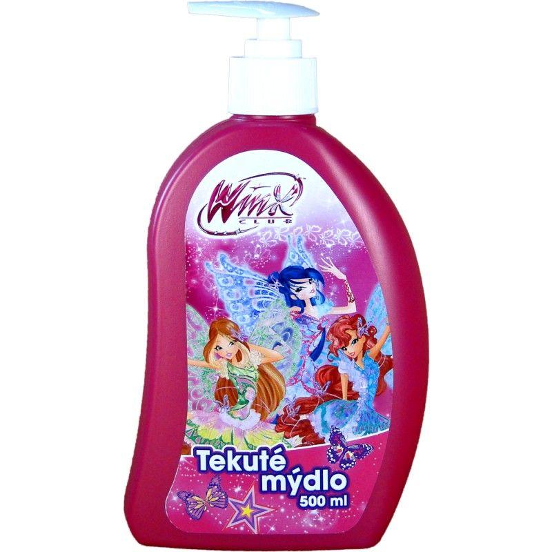 Tekuté mýdlo s dávkovačem Winx club růžové 500ml