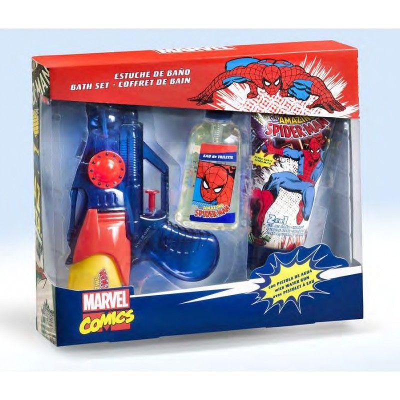 Set vodní pistole, toaletní voda a sprchový gel Spiderman