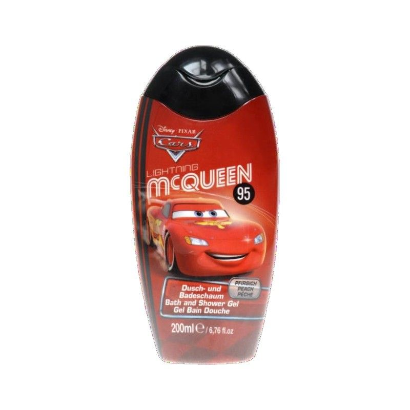 Sprchový gel a pěna Auta / Cars Mc Queen Broskev 200 ml