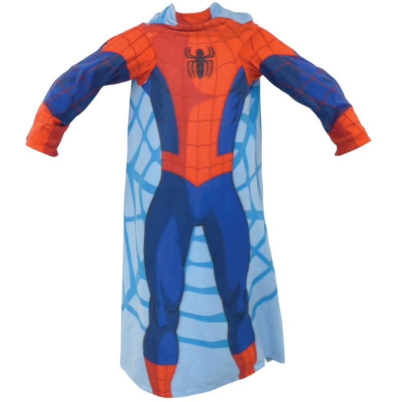 Fleecová Deka S Rukávy Spiderman 138 Cm