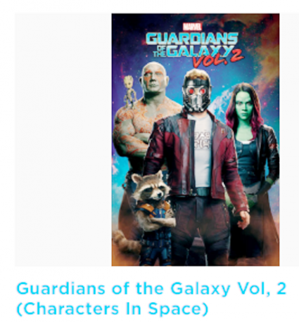 PLAKÁT 61 x 91,5 cm MARVEL GUARDIANS OF THE GALAXY / Characters in space