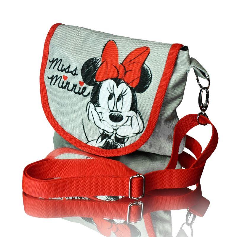 Taška přes rameno Minnie Mouse šedá / červená