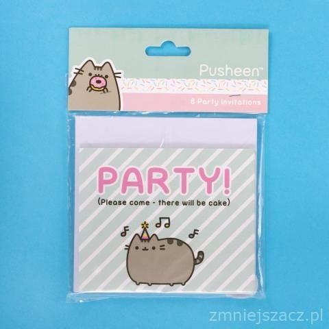 Sada 8 ks pozvánek s kočičkou Pusheen / vecizfilmu