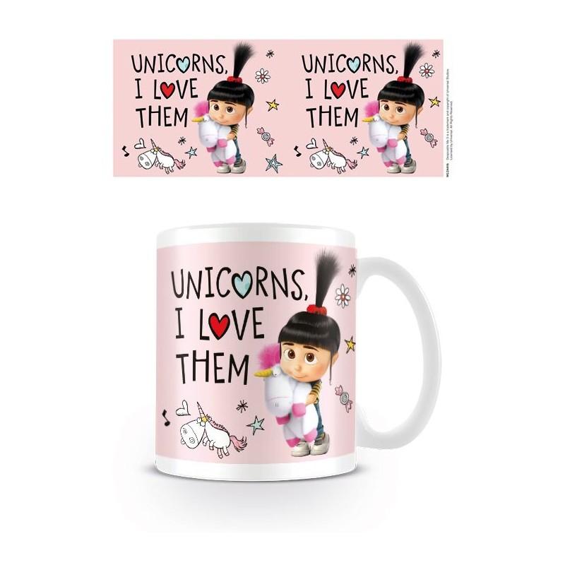 Keramický hrnek Mimoni Unicorns I Love them