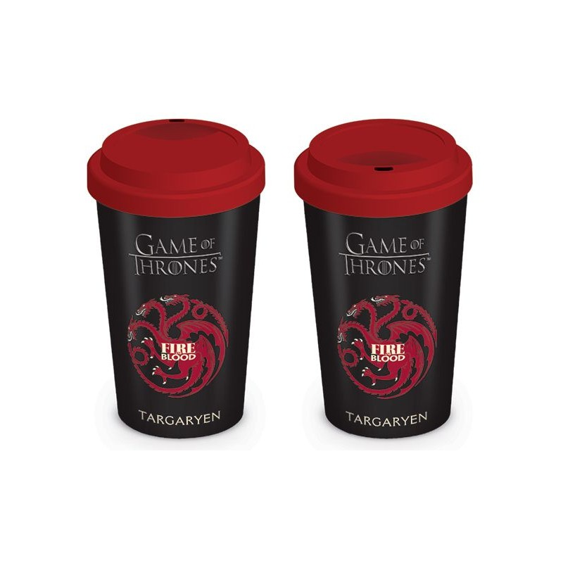 Cestovní hrnek 340 ml Hra o Trůny / Game of Thrones / House Targaryen