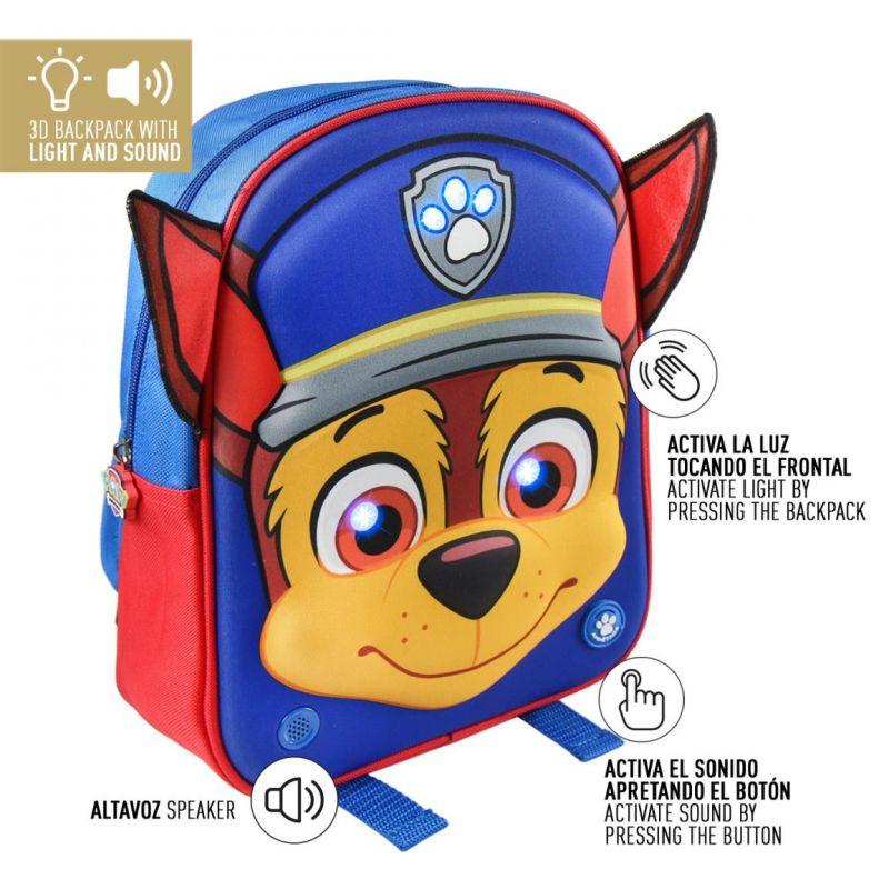 LED 3D batoh Chase Paw Patrol  s hrající písničkou / španělskou
