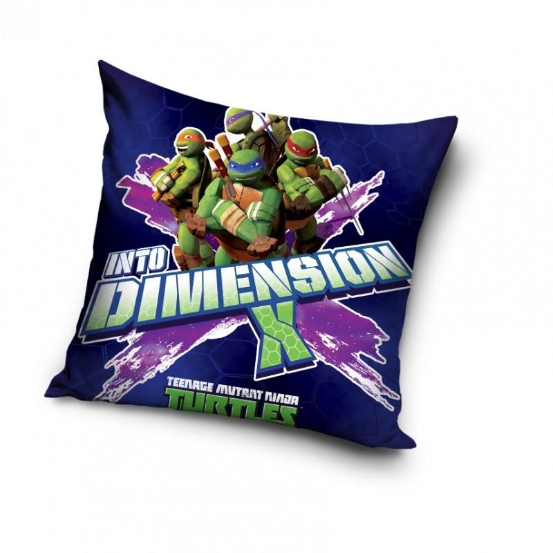 Dětský polštář Želvy Ninja / Ninja Turtles Into Dimension 40 x 40 cm