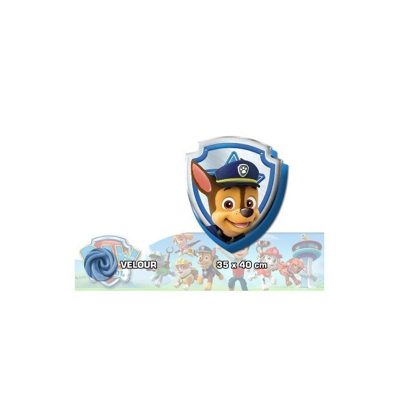Chlapecký polštář ve tvaru erbu Paw Patrol / Tlapková Patrola 40 x 35 cm