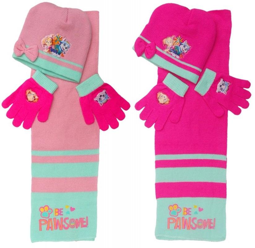 Sada dívčího oblečení čepice / šála / rukavice Paw Patrol / Tlapková Patrola