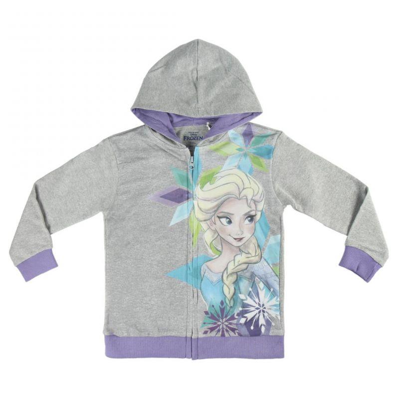 Dívčí mikina s kapucí Frozen Elsa šedá 3 - 7 let / vecizfilmu