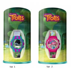 Digitální hodinky v dárkové kovové krabičce Trolls / Trollové