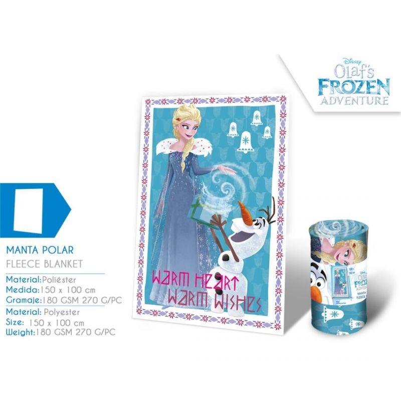 0cbe91539 Fleecová deka Frozen Elsa a Olaf 100 x 150 cm