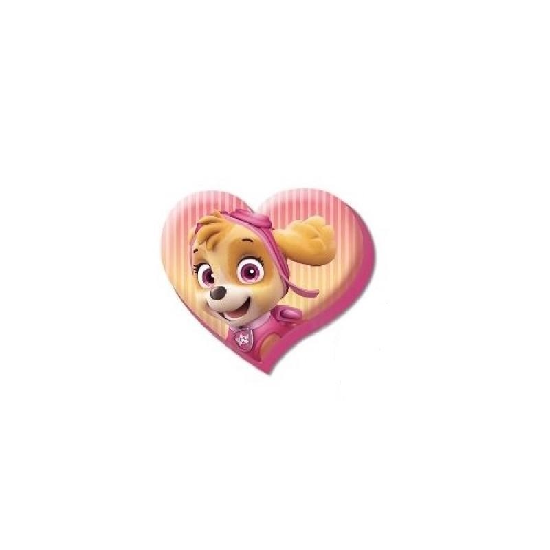 Dívčí polštář ve tvaru srdce Paw Patrol / Tlapková Patrola 40 x 35 cm