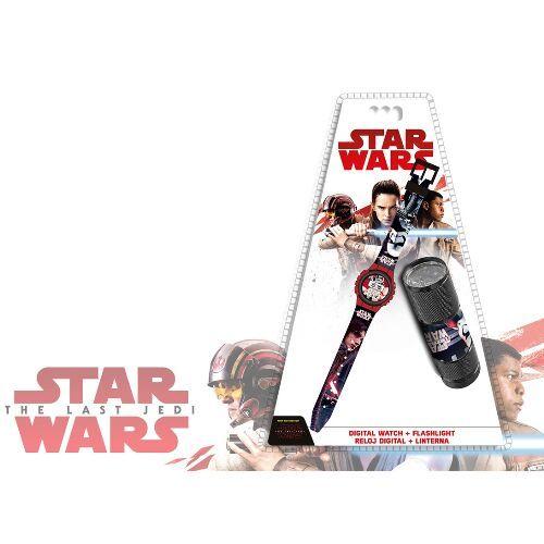Digitální hodinky a baterka Star Wars