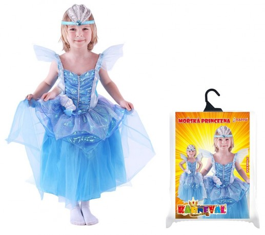 Dětský karnevalový kostým mořská princezna velikost S