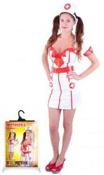 Karnevalový kostým pro dospělé slečna zdravotnice velikost M