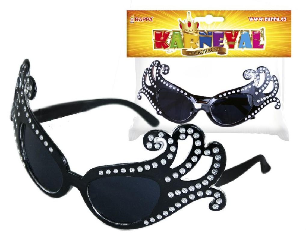 Karnevalové brýle Lady G černé