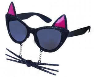 Karnevalové brýle kočka s vousy