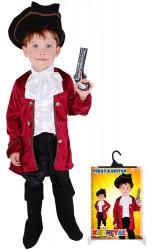 Dětský karnevalový kostým kapitán Hook velikost L