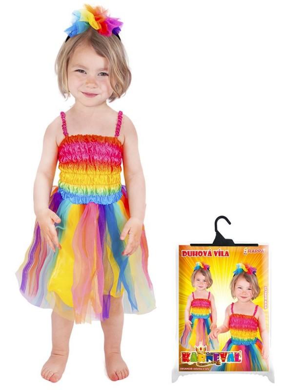 Dětský karnevalový kostým duhová víla velikost XS 5c459b99de